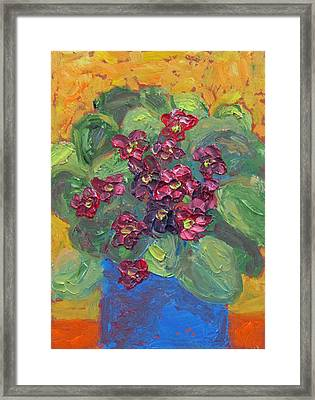 Framed Print featuring the painting African Violet by Susan  Spohn
