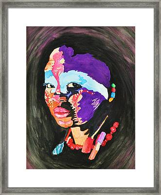 African Woman Framed Print by Glenn Calloway