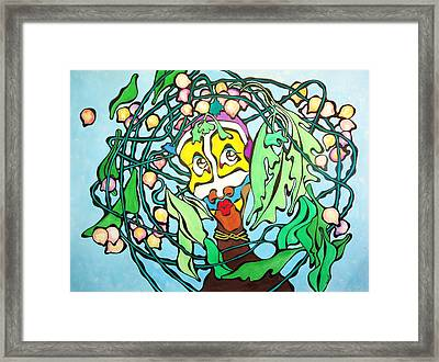 African Woman In Make Up Framed Print by Glenn Calloway