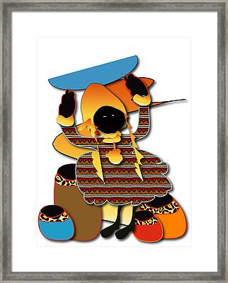 Framed Print featuring the digital art African Worker by Marvin Blaine