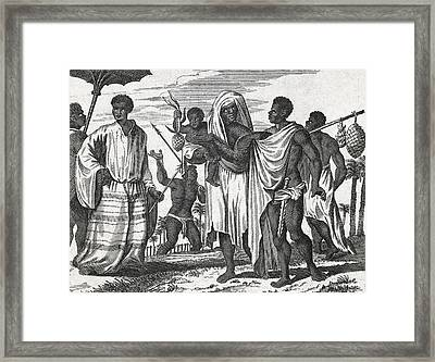 African Zenega People, 17th Century Framed Print by Science Photo Library