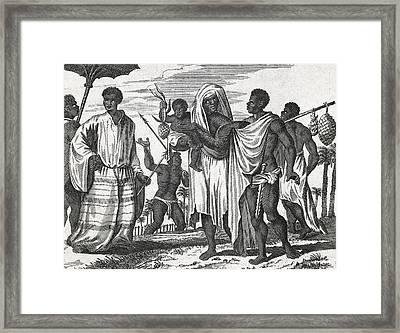 African Zenega People, 17th Century Framed Print