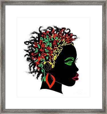 Afrikan Goddess Framed Print