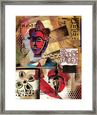 Afro Aesthetic B Framed Print by Everett Spruill