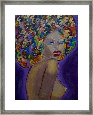 Afro-chic Framed Print by Apanaki Temitayo M