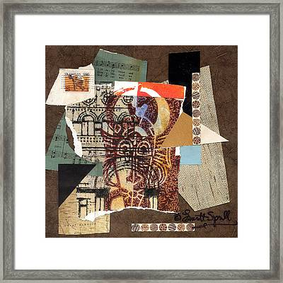 Afro Collage B Framed Print by Everett Spruill