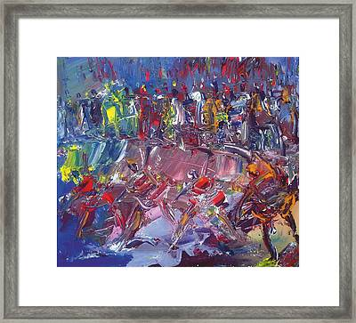 Afro-dance Framed Print by Bob Usoroh