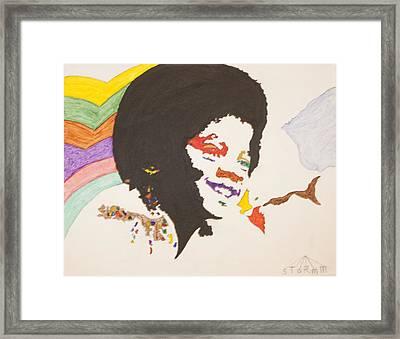 Afro Michael Jackson Framed Print by Stormm Bradshaw