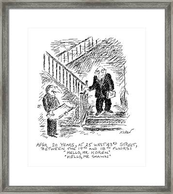 After 20 Years Framed Print