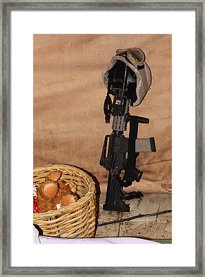After A Hard Day In Combat Framed Print by Shoal Hollingsworth