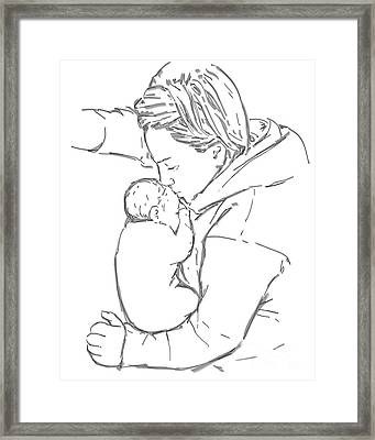 Framed Print featuring the drawing After A Long Journey by Olimpia - Hinamatsuri Barbu