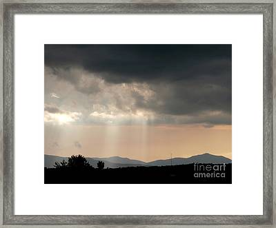 After A Rain Storm Framed Print by Steven Valkenberg