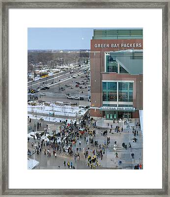 After A Winter Packers Game Framed Print