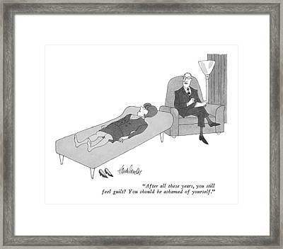 After All These Years Framed Print by J.B. Handelsman