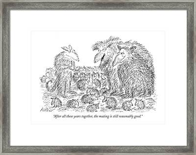 After All These Years Together Framed Print by Edward Koren