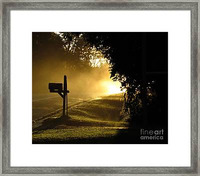 After An Evening Rain Framed Print