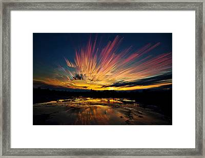 After Burn Framed Print