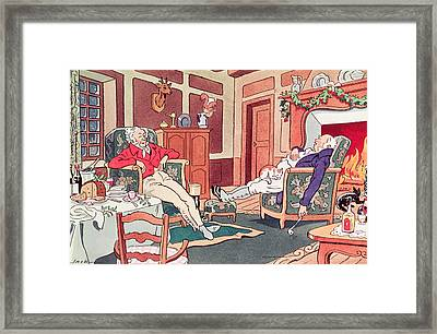 After Christmas Lunch Framed Print by Anonymous