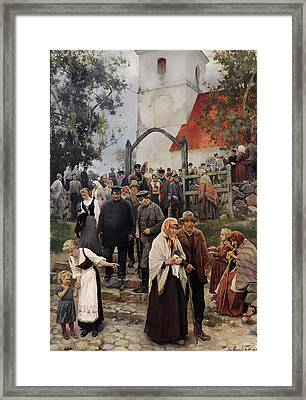 After Church Framed Print by Mountain Dreams