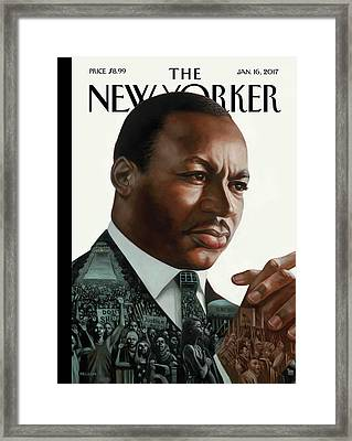 After Dr. King Framed Print by Kadir Nelson