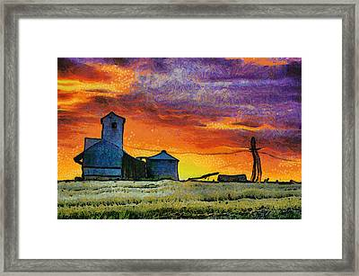 After Harvest - Digital Painting Framed Print by Mark Kiver