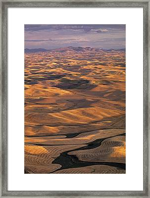 After Harvest From Steptoe Butte Framed Print by Latah Trail Foundation