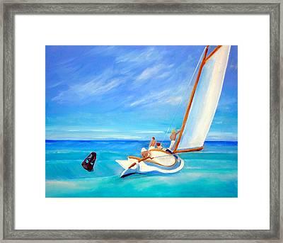 After Hopper- Sailing Framed Print