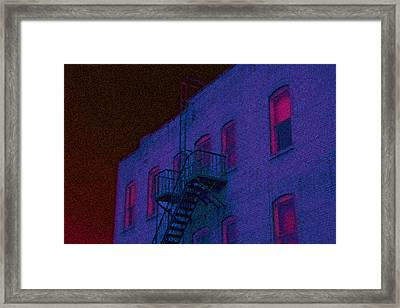 Framed Print featuring the photograph after hours glow -Seurat Style by Denise Beverly