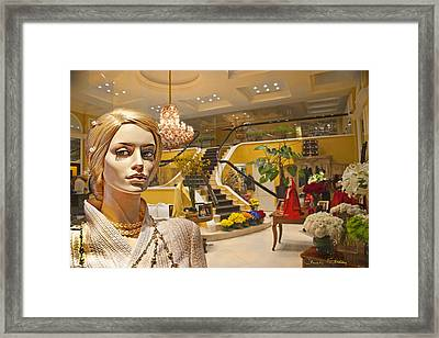 After-hours Shopping Framed Print