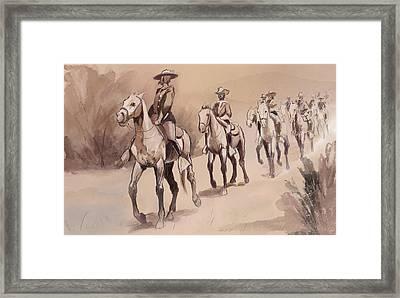 After In The Desert Framed Print