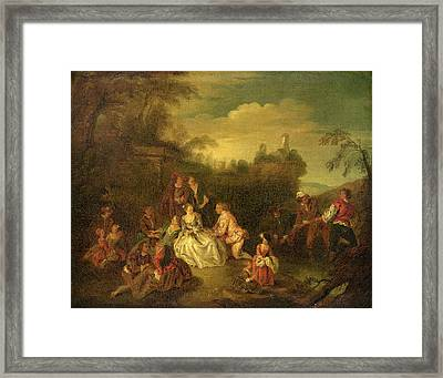 After Jean-baptiste Joseph Pater Framed Print by Quint Lox