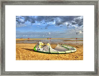 Framed Print featuring the photograph After Kiteboarding Session by Julis Simo