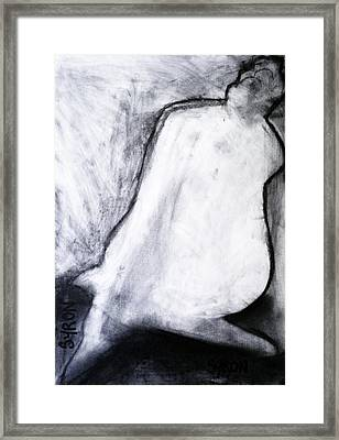Framed Print featuring the drawing After Life Drawing 3 by Helen Syron