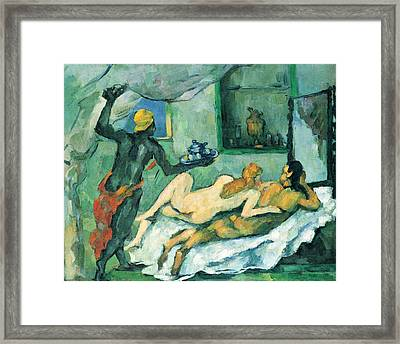 After Lunch In Naples By Cezanne Framed Print by John Peter