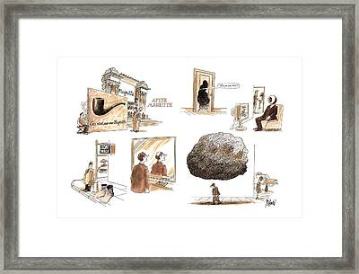 After Magritte Framed Print by Kenneth Mahood