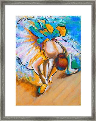After Master Degas Ballerina Tying Her Shoe Framed Print by Susi Franco