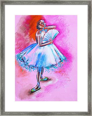 After Master Degas Ballerina With Fan Framed Print by Susi Franco