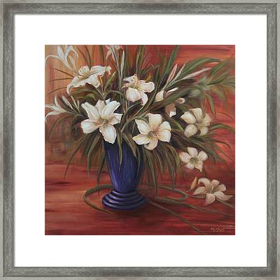 After Noon Lilies Framed Print