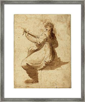 After Orazio Gentileschi, The Lute Player Framed Print by Litz Collection