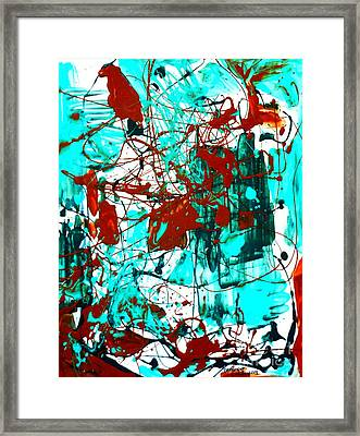 After Pollock Framed Print by Genevieve Esson