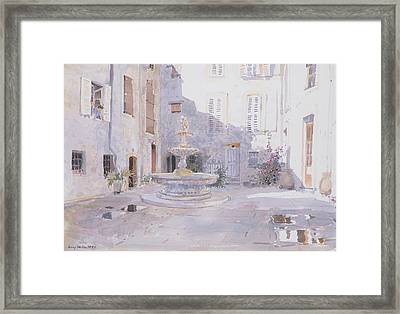 After Rain, Tourrette Framed Print by Lucy Willis