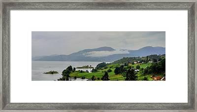 After Raining Panorama Framed Print