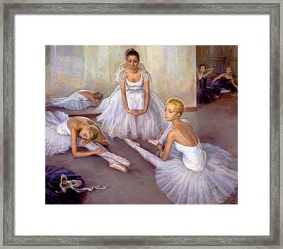 After Rehearsal Framed Print