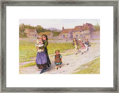After School Framed Print by Henry Towneley Green