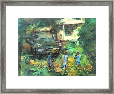 After School Framed Print by Ron Carson