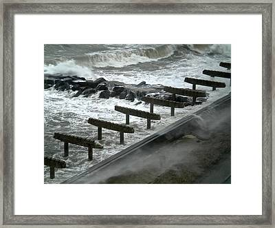 After Storm Sandy Framed Print by Joan Reese