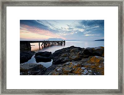After Sun At Portencross Framed Print by Stephen Taylor