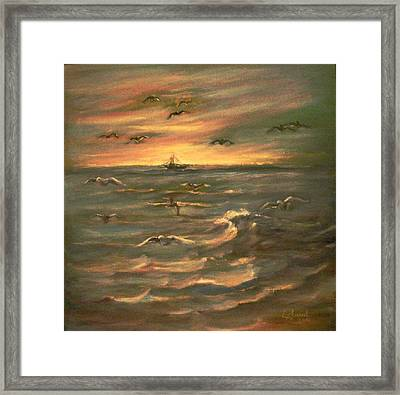 After Sunset  Framed Print by Laila Awad Jamaleldin