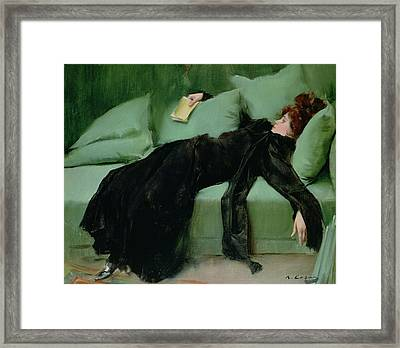 After The Ball  Framed Print by Ramon Casas i Carbo