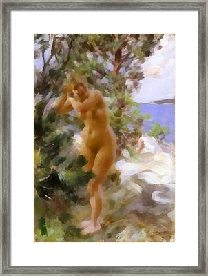 After The Bath 2 Framed Print by Anders Zorn